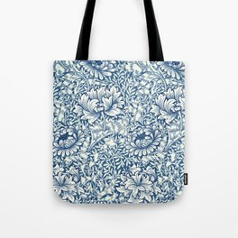 William Morris Navy Blue Botanical Pattern 8 Tote Bag