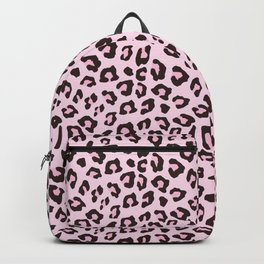 Leopard Print - Pink Chocolate Backpack