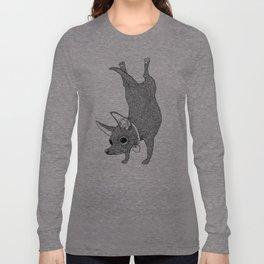 Chihuahua Handstand Long Sleeve T-shirt