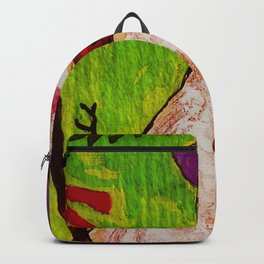 Snowman and Broom Backpack