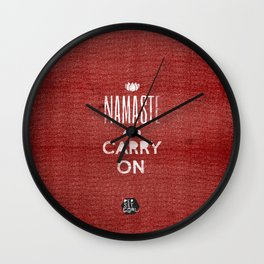 Namaste and Pass it on Wall Clock
