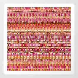 Colorful Ethnic Pattern Art Print