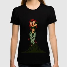 Poison Ivy Black X-LARGE Womens Fitted Tee