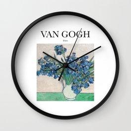 Van Gogh - Irises Wall Clock