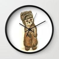 lydia martin Wall Clocks featuring Martin by Sam Luotonen
