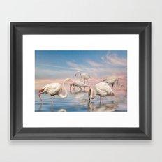 Flamingo Lagoon Framed Art Print