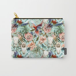 Pattern tropical boho skull Carry-All Pouch