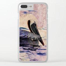 twilight pelican Clear iPhone Case