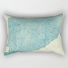 Georgia Map Blue Vintage Rectangular Pillow