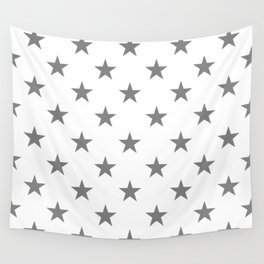 Stars (Gray/White) Wall Tapestry