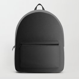 Black to White Vertical Linear Gradient Backpack