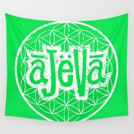 Ajeva Logo Green Wall Tapestry