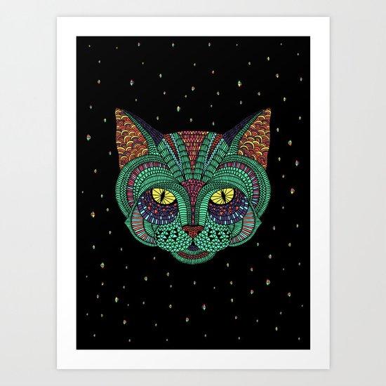 Intergalactic Cat Art Print