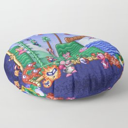Mario Super Bros, Too Floor Pillow