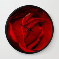 passion Wall Clocks featuring Passion by Loredana:Flowers