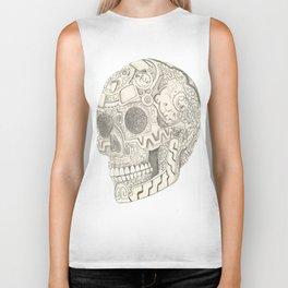 Skull, aztec design Biker Tank
