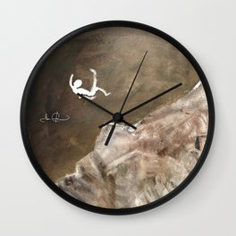 Life is a Series of Falls Wall Clock