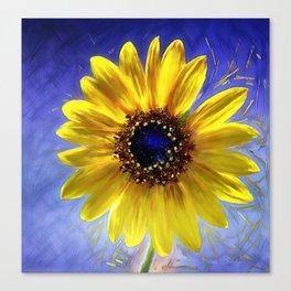 Sunflower Azul Canvas Print