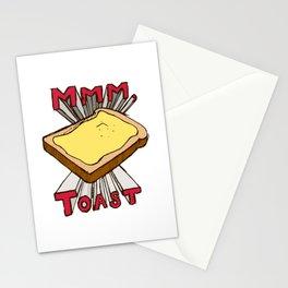 Mmm, Toast Stationery Cards