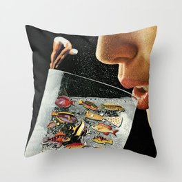 Shared Ecosystem Throw Pillow