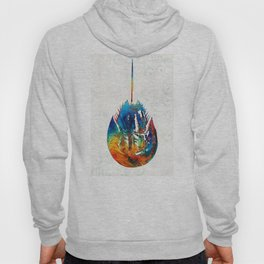 Colorful Horseshoe Crab Art by Sharon Cummings Hoody