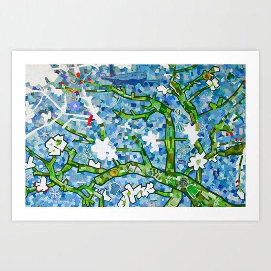 van gogh's almond tree Art Print