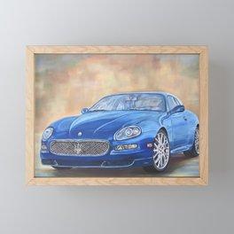 Blue Gransport Framed Mini Art Print