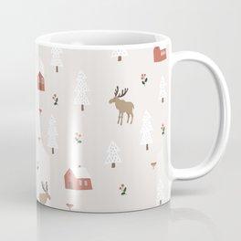 Moose Houses Cozy Christmas Coffee Mug