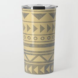 Ethnic geometric pattern with triangles circles and lines Travel Mug