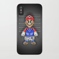 mario kart iPhone & iPod Cases featuring It's ME, Evil Mario !  by Art & Be