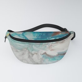 Blown Away - Abstract Acrylic Art by Fluid Nature Fanny Pack