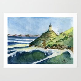 Peaceful Lighthouse V Art Print