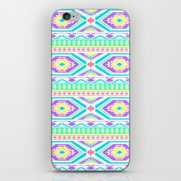 Aztec Geometric Print - Pastel bright colours iPhone Skin