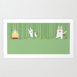Easter Bunnyville Art Print