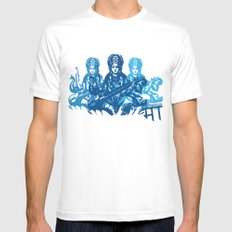 Saraswati Triple MEDIUM Mens Fitted Tee White