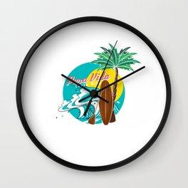 Pura Vida Ocean Costa Rica Waves Surfing Beaches Swimming Gifts Wall Clock