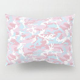 Pink Candy Camouflage Pattern Pillow Sham