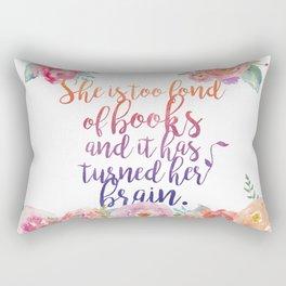Too Fond of Books Rectangular Pillow