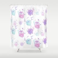 musa Shower Curtains featuring Ectoplantism by Atelier Amy
