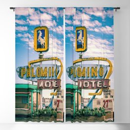 Palomino Motel Vintage Neon Sign in Tucumcari New Mexico along Route 66 Blackout Curtain