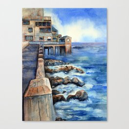 Walking with Steinbeck on Cannery Row Canvas Print