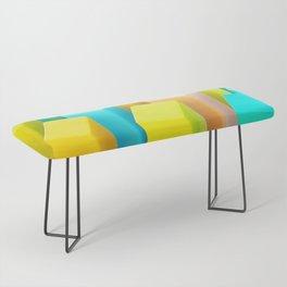 Color Blocking Pastels Bench