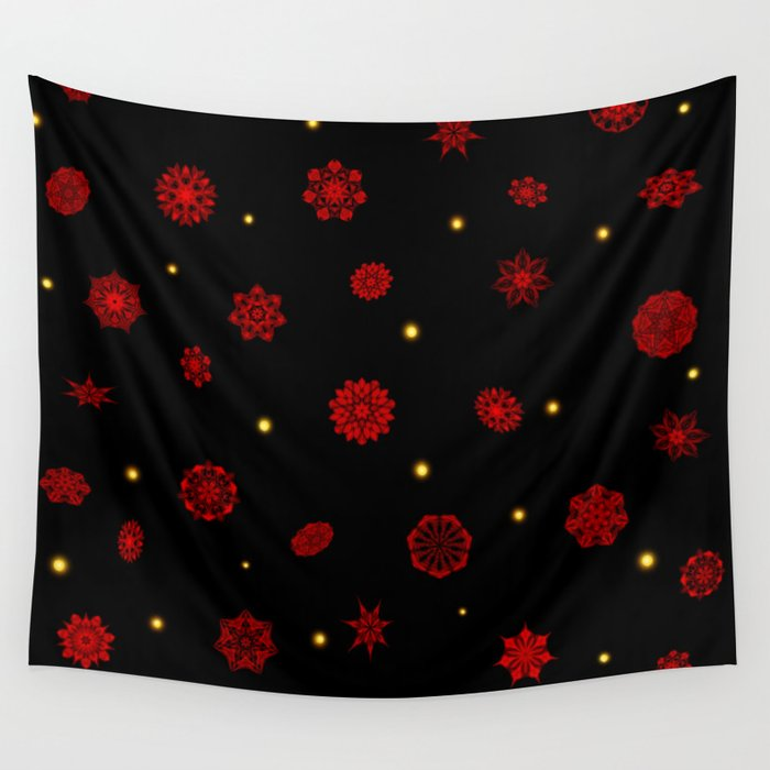Fire in the Night Wall Tapestry