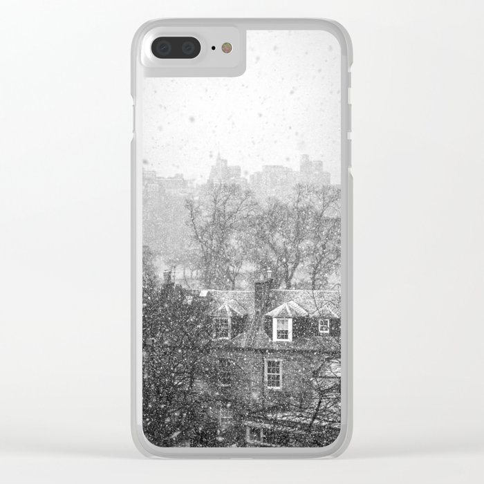 Snowfall Clear iPhone Case