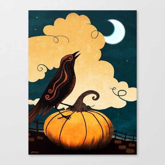 Halloween Is In The Air Canvas Print