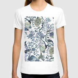 Blue vintage chinoiserie flora T-shirt