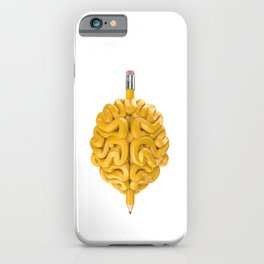 Pencil Brain iPhone Case