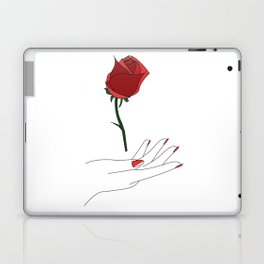 rose in hand Laptop & iPad Skin