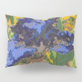 #012 - Beaded Iris Pillow Sham