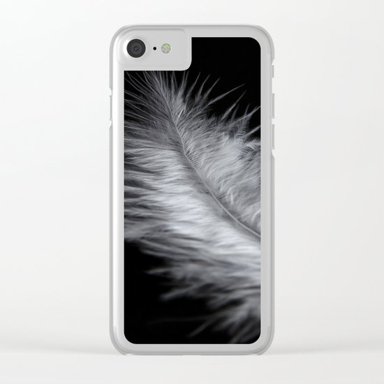 feather in white Clear iPhone Case